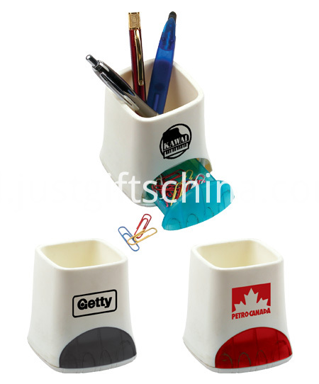 Promotional Logo Printed Pen Holder W a Drawer