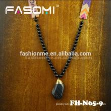 Bohême style collier de pierres de gros agate pierre gemme