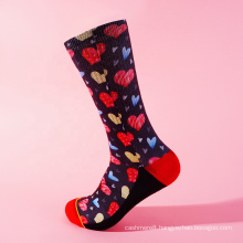 Lover's eco friendly printed one size fits socks