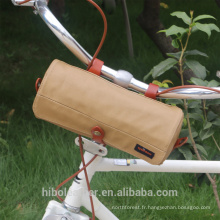 Sac de guidon de bicyclette Sac à bandoulière de transport Sac à bandoulière imperméable à l'eau de kaki de stockage de vélo
