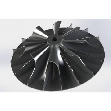 Turbine de ventilateur d'extraction de vide d'usinage CNC