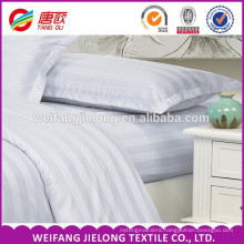 100% cotton satin stripe fabric for home textile and hotel beddings 100% white cotton percale/ satin stripe fabric for sheeting