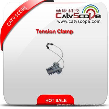 Pince d'ancrage de pince de tension de câble de fibre optique de haute qualité Csp-08 ADSS