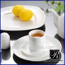 Plato de cena de la porcelana de las ventas calientes de la fábrica de la porcelana de P & T