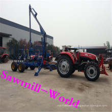 Farm and Forestry Working Log Trailer with Crane