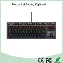 7 Farben bunte LED beleuchtete ergonomische Hintergrundbeleuchtung mechanische Spieltastatur