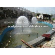 2016 Nueva escultura de la fuente del árbol del diente de león de la estatua de la fuente de agua del acero inoxidable del metal de la alta calidad