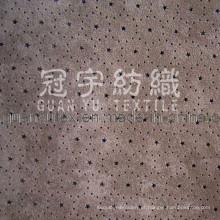 Tecido de sofá de microcamurça de poliéster têxtil doméstico