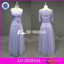 ED Bridal Elegant Lavender Flower Waist Sweetheart Neckline Sleeveless Tulle Prom Dress With Jacket 2017