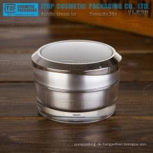 YJ-S30 30g reines und Verdickung Acryl Hartplastik double Layer 30g matt Silber Glas