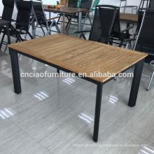 Новый дизайн открытый расширение тикового дерева стол