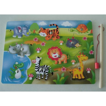 Educational Wooden Fishing Magnetic Puzzle Wooden Toys
