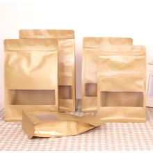 Zipper brown kraft paper bags for dry cargo