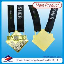 2013 Texas Marathon Medaillen Sport Berühmte Gold Finisher Medaille Gravierte Medaille Nette Schwein Einzigartige Medaille mit Black Ribbon (lzy00040)
