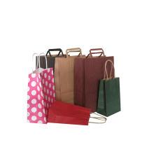 Farbe Kraftpapier Geschenktüte mit Griff