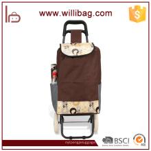 Novo Design de Moda Livros Vegetais Compras Trolley Bag
