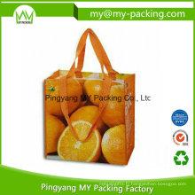 Sacs à provisions tissés par impression durable d'emballage de pp pour la promotion