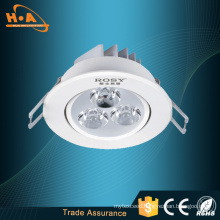 Recessed Round LED Ceiling Lamps with Dumb White High Light
