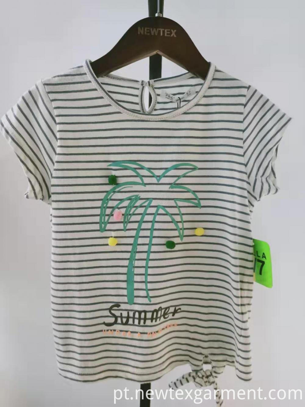 printed stripe kids blouse