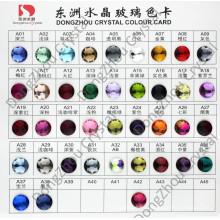 Color tarjeta: Espalda plana piedra cristalina para la decoración de la joyería/de la ropa