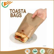 Revêtement en téflon en fibre de verre brossage sac alimentaire pour cuisson au four