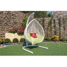 Egg Shape Outdoor Patio Garden Wicker Swing Chair Poly Rattan Hammock