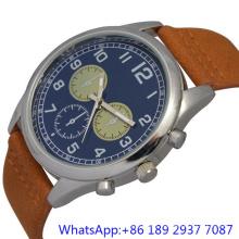 Montre à quartz en acier inoxydable de qualité supérieure avec véritables montres chronographe homme (HLJA-15176)