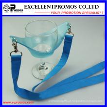 Transferência de calor promocional impresso personalizado Lanyard titular vidro de vinho (EP-Y581407)
