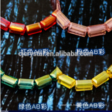 crystal beads for wedding dress square beads