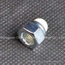 De acero al carbono Hex Nylon Cap Domed Nut