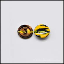 Screen Print Snap Button for Coat