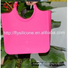 Multi-colorido promocional fácil lavagem de borracha saco de praia