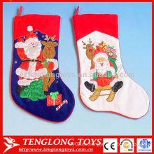 Decoración de Navidad de alta calidad Suministros bordar calcetines de Navidad padre