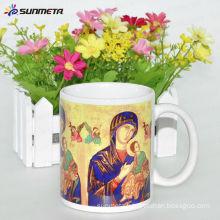 Pass FDA11oz ceramic sublimation mug for promotional and advertising