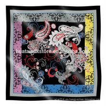 Bufanda de seda cuadrada barato en alta calidad para la venta al por mayor