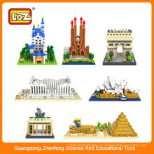 Китайская игрушка производителей / пластиковые LOZ архитектурных строительных блоков кирпича игрушка