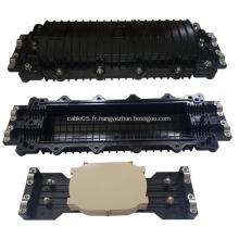 Boîte de jonction pour câbles à fibres optiques en ligne à 4 ports