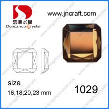 Multicolore miroir carré strass en verre pour collier Ornement