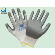13G Перчатки защитной службы с покрытием из серого нитрила (N6007)