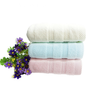 Double Satin Plain Towels Guest Dyed