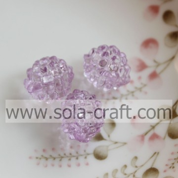 Decorativa 12x14MM luz cor roxa transparente acrílico Berry Beads