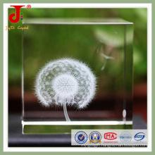 Nest 3D Laser Engraved Crystal Glass Cube (JD-CC-500)