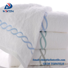 Customize Embroidery 100% Cotton hotel Towel for spa