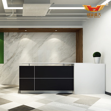 Promotion Office Shop Front Counter Design Standing Reception Desk (H85-1261)