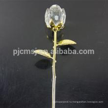 Лучшие продажи гарантированное качество хрустальная роза цветок