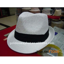 custom Paper white fedora hat