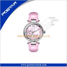 Starfish Pattern Mop Shell Dial Pink Stones Lady Wrist Watch