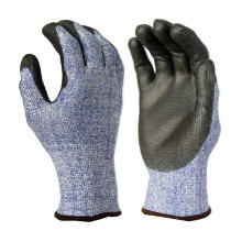 Comfortable Working PU Epica Cut Resistant Gloves with CE Level 5 Protection