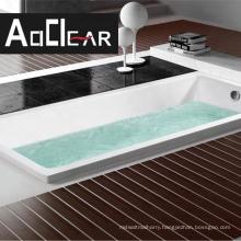 Aokeliya new acrylic deep soaking bathtub drop in white tubs for home