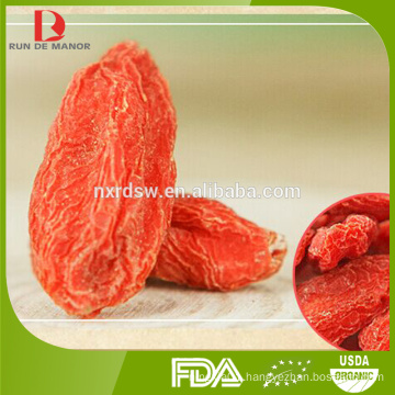 Ningxia high quality organic dried goji berries/wolfberry/medlar/new harvest